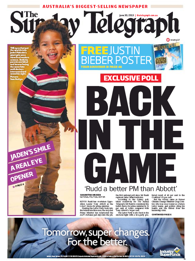 SUNDAY TELE COVER