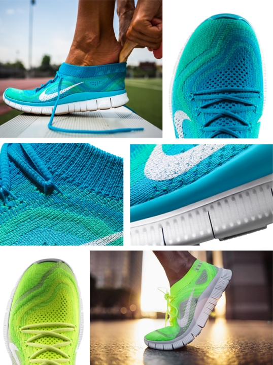 Nike Flyknit collage
